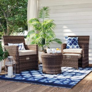 Halsted Wicker Small Space Patio Furniture Set